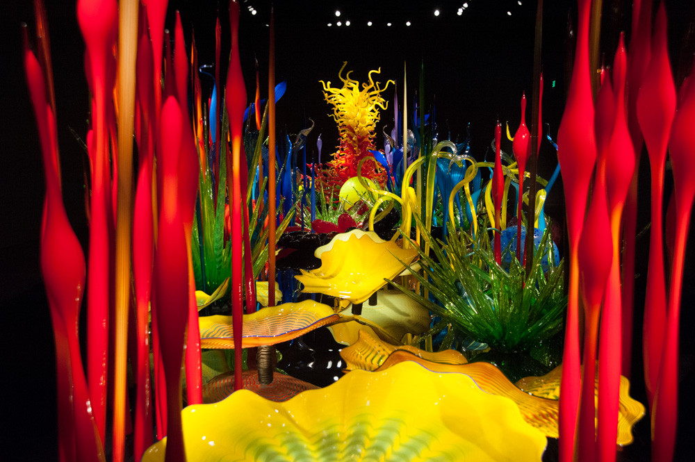 Chihuly red glass-1
