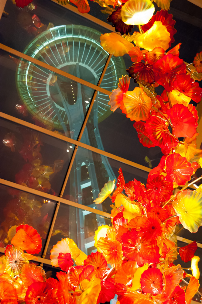 Space Needle through Chihuly